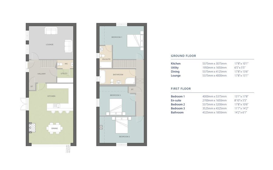 Plot-2 the-willow floor-plans-dims-1180px