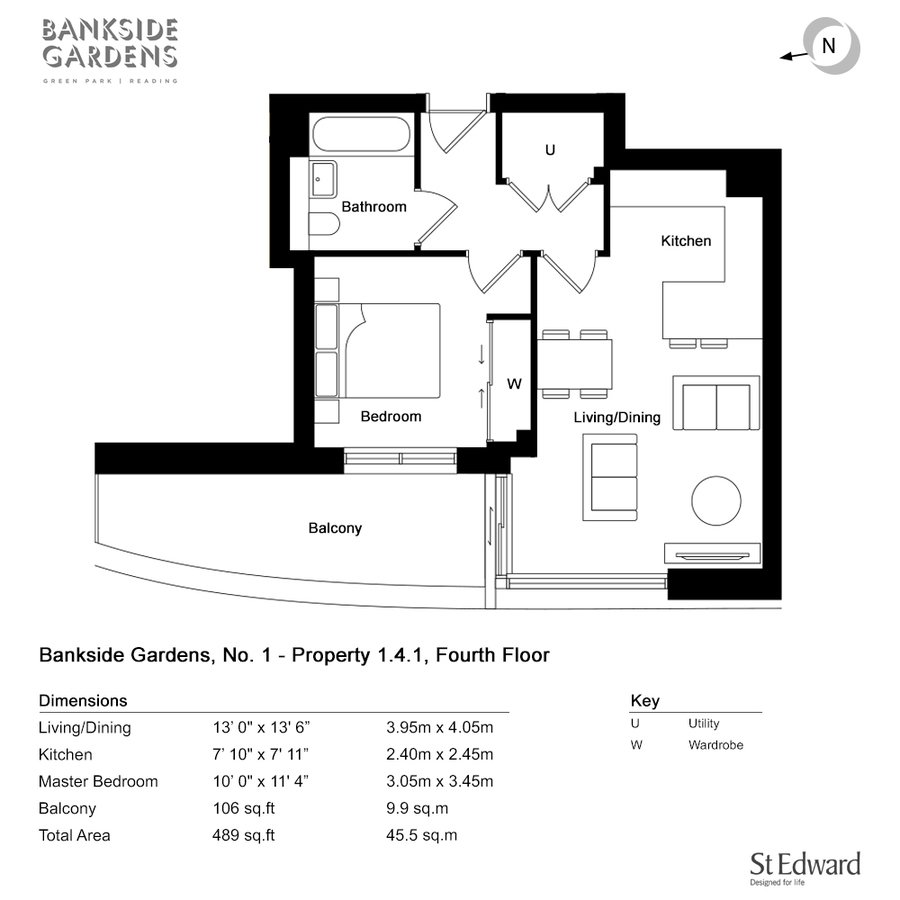 H563 0141 2 floorplan fourth floor