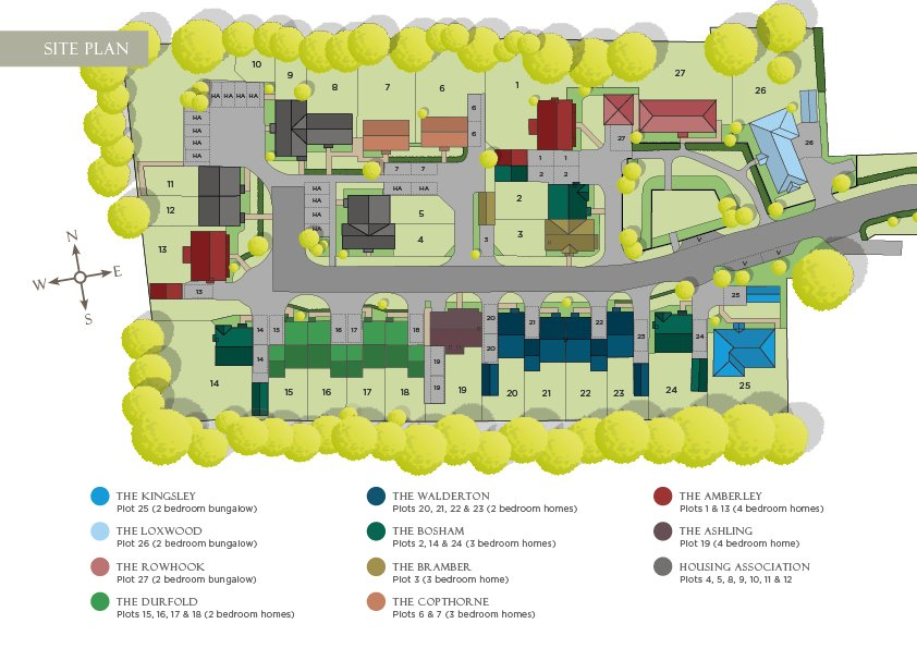 The pines brochure site plan